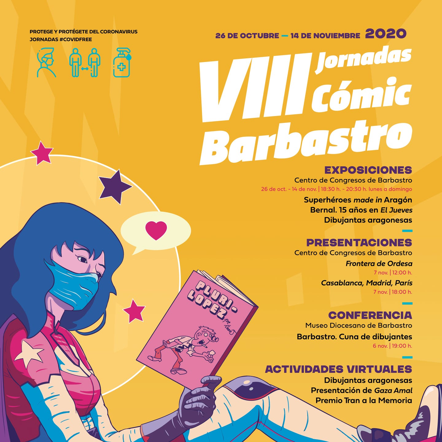 VIII JORNADA COMIC BARBASTRO CARTEL
