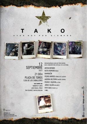 Cartel concierto Tako